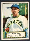 1952 Topps Baseball # 073 William Werle Pittsburgh Pirates VG-2
