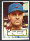 1952 Topps Baseball # 204 Ron Northey Chicago Cubs VG-3