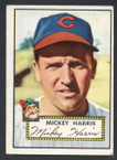 1952 Topps Baseball # 207 Mickey Harris Cleveland Indians VG-1
