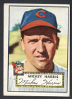 1952 Topps Baseball # 207 Mickey Harris Cleveland Indians VG-2