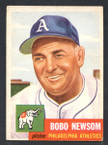 1953 Topps Baseball # 015  Bobo Newsom Philadelphia Athletics EX