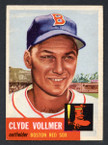 1953 Topps Baseball # 032  Clyde Vollmer Boston Red Sox EX/MT-1