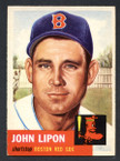 1953 Topps Baseball # 040  John Lipon Boston Red Sox EX/MT