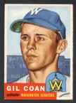 1953 Topps Baseball # 133  Gil Coan Washington Senators EX/MT