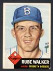 1953 Topps Baseball # 134  Rube Walker Brooklyn Dodgers EX