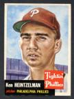 1953 Topps Baseball # 136  Ken Heintzelman Philadelphia Phillies EX/MT