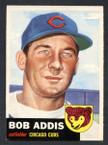 1953 Topps Baseball # 157  Bob Addis Chicago Cubs EX/MT-1