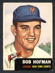 1953 Topps Baseball # 182  Bob Hofman New York Giants EX-1