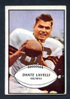 1953 Bowman Football # 015  Dante Lavelli Cleveland Browns VG