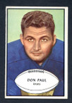 1953 Bowman Football # 047  Don Paul Los Angeles Rams VG