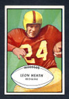 1953 Bowman Football # 063  Leon Heath Washington Redskins EX
