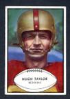 1953 Bowman Football # 084  Hugh Taylor Washington Redskins VG