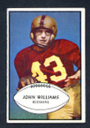 1953 Bowman Football # 087  John Williams Washington Redskins EX