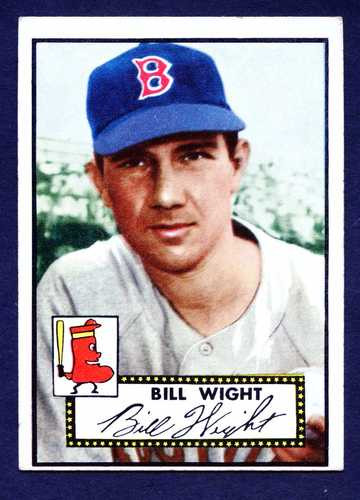 1952 Topps Baseball 177 Bill Wight Boston Braves EX