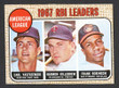 1968 Topps Baseball # 004  AL RBI Leaders Killebrew, F. Robinson and Yastrzemski EX/MT