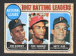 1968 Topps Baseball # 001  NL Batting Leaders Clemente, Gonzalez and Alou EX-3