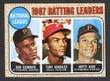 1968 Topps Baseball # 001  NL Batting Leaders Clemente, Gonzalez and Alou EX-1