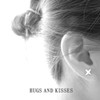 Hugs And Kisses Silver Earrings