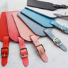 Colour Wedding Leather Luggage Tags