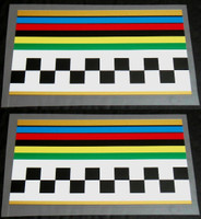 Peugeot Stripes/Checkers Bands - 1 Pair