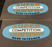 Super Champion Competition Rim Decals - Set of 2