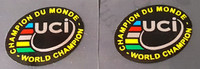 UCI World Champion Bicycle Wheel Decals - Set of 2