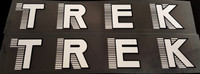 Trek 1980s Down Tube Decals - 1 Pair - Choice of Colors