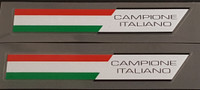 "Made in Italy ""Campione Italiano"" Decals - 1 Pair"