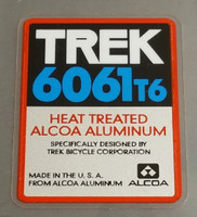 Trek 6061 T6 Tubing Decal