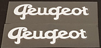Peugeot 1950s Down Tube Decals  - 1 Pair