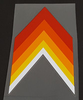 Peugeot  Chevron Seat Tube Decal - Inverted