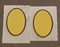 Peugeot Gold Oval Stay Decals  - 1 Pair