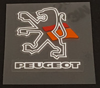 Peugeot  Head Badge Decal - Double Outline Lion