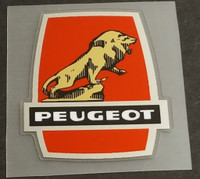 Peugeot  Head Badge Decal - Chrome Border