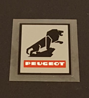 Peugeot  Head Tube Decal - Metallic Silver Background