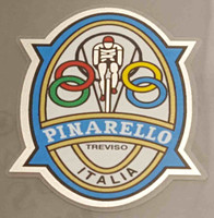 Pinarello Head Badge Decal (Chrome Rider) - Chrome Border