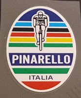 Pinarello Head Badge Decal w/Olympic Stripes