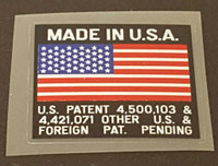 Klein USA/Flag/Patent Decal