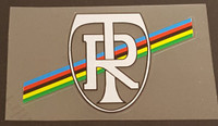 Ritchey Head Badge Decal with Olympic Stripes