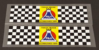 Fuji Checkered Bands Seat Tube Decals - 1 Pair