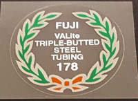 Fuji 178 Tubing Decal with Choice of Black or White Lettering