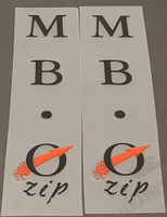 Bridgestone 1990 MB-0 Zip Seat Tube Decals - 1 Pair - Choose Color