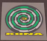 Kona Spiral Head Badge Decal - 3 color + Black - Choose Colors