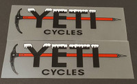 Yeti Ice Pick Top Tube Decals - 1 Pair - Black