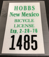 Hobbs New Mexico License Decal 1976