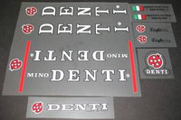 Mino Denti  Decal Set of 15 - Choice of Letter Colors (sku 350)