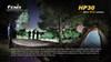 Fenix HP30 LED Headlamp Shining in the Dark