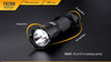 Fenix TK20R Rechargeable Tactical Flashlight Dimensions