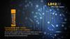 Fenix LD12 LED Flashlight - 2017 Edt Battery