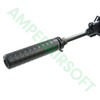 PTS - Griffin M4SD II Mock Suppressor (Black) Attached To Rifle